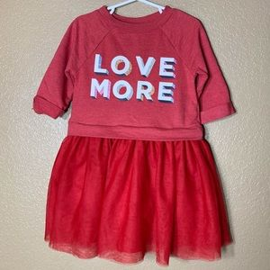 Old Navy toddler girl red sweater tutu dress